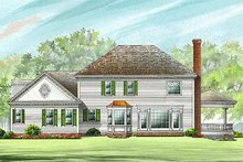 Colonial Exterior - Rear Elevation Plan #137-119