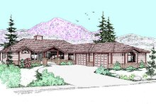Dream House Plan - Ranch Exterior - Front Elevation Plan #60-259