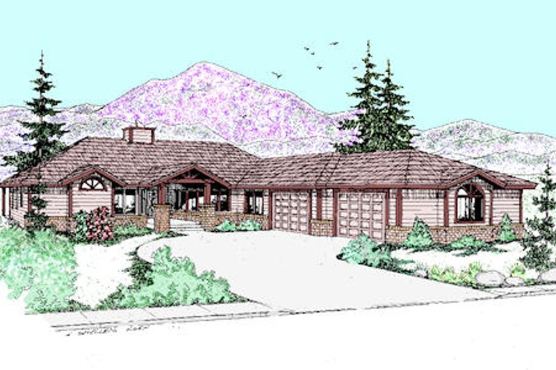 Ranch Exterior - Front Elevation Plan #60-259 - Houseplans.com