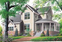 Home Plan - Farmhouse Exterior - Front Elevation Plan #23-2008