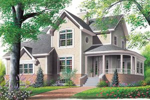 House Design - Farmhouse Exterior - Front Elevation Plan #23-2008