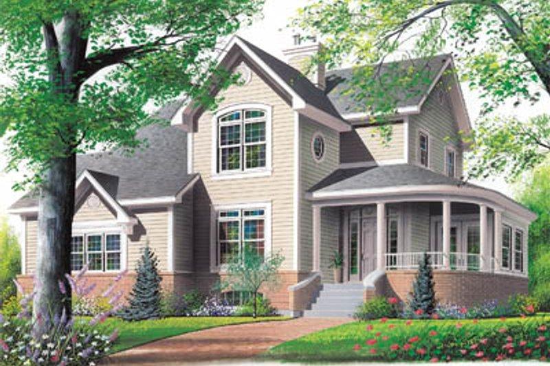 Farmhouse Exterior - Front Elevation Plan #23-2008 - Houseplans.com