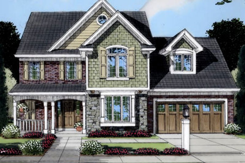 Traditional Exterior - Front Elevation Plan #46-385 - Houseplans.com