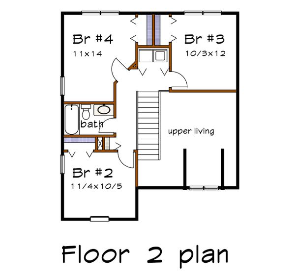 Dream House Plan - Country Floor Plan - Upper Floor Plan #79-284