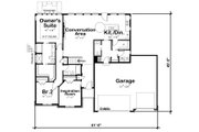 Ranch Style House Plan - 3 Beds 2.5 Baths 1750 Sq/Ft Plan #20-2297 Floor Plan - Main Floor Plan