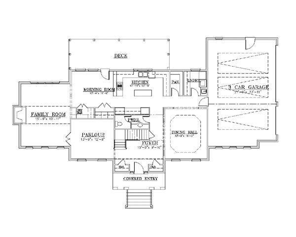 European Floor Plan - Main Floor Plan Plan #119-299