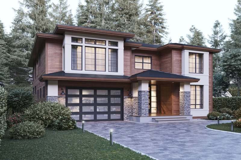Architectural House Design - Contemporary Exterior - Front Elevation Plan #1066-21