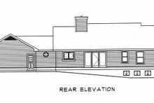 Traditional Exterior - Rear Elevation Plan #22-109