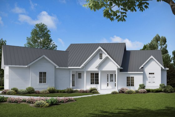 Farmhouse Exterior - Front Elevation Plan #54-383
