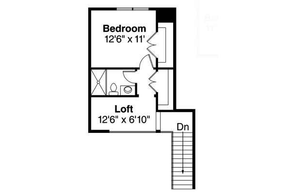 Farmhouse Floor Plan - Upper Floor Plan Plan #124-901