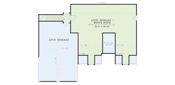 Traditional Floor Plan - Upper Floor Plan Plan #17-1020