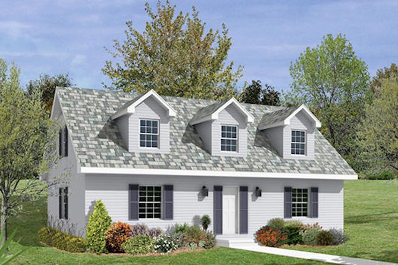 Colonial Style House Plan - 4 Beds 2 Baths 1705 Sq/Ft Plan #57-225 Exterior - Front Elevation