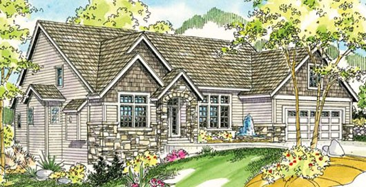 Traditional Exterior - Front Elevation Plan #124-733 - Houseplans.com