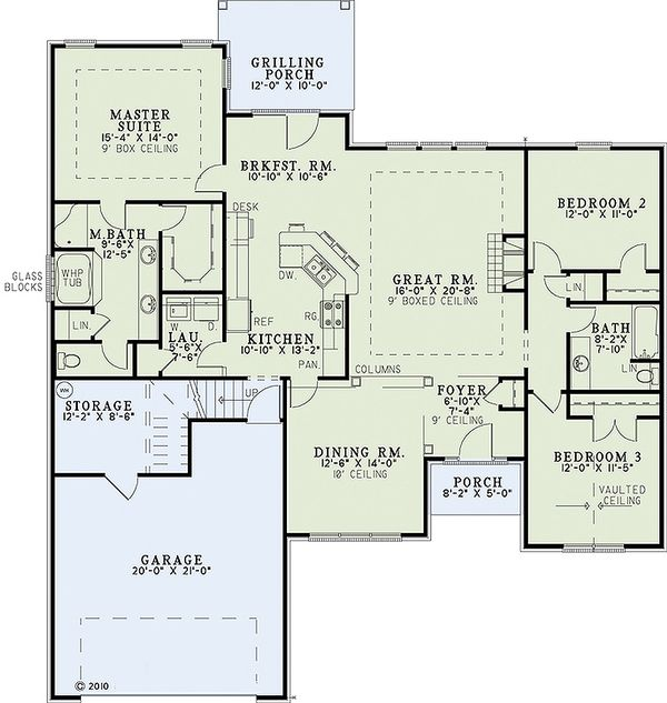 European Floor Plan - Main Floor Plan Plan #17-2458