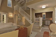 Cottage Style House Plan - 3 Beds 2 Baths 983 Sq/Ft Plan #489-5 Photo