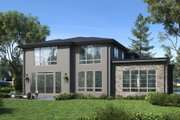 Modern Style House Plan - 5 Beds 4.5 Baths 3886 Sq/Ft Plan #1066-87 Exterior - Other Elevation
