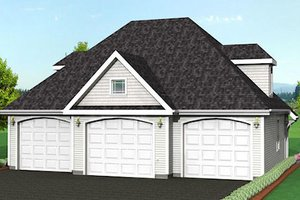 Traditional Exterior - Front Elevation Plan #75-188