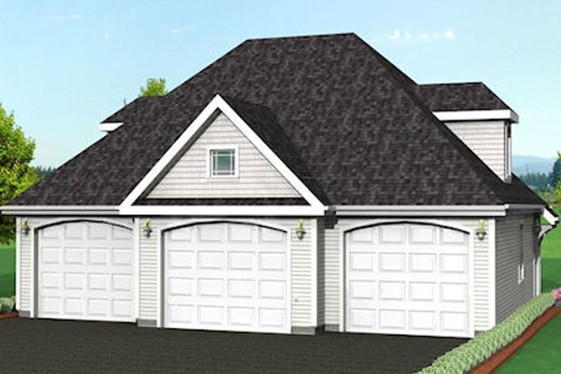 Traditional Style House Plan - 0 Beds 0 Baths 1092 Sq/Ft Plan #75-188 Exterior - Front Elevation