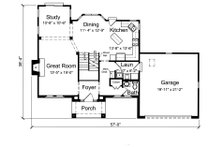 Traditional Floor Plan - Main Floor Plan Plan #46-871