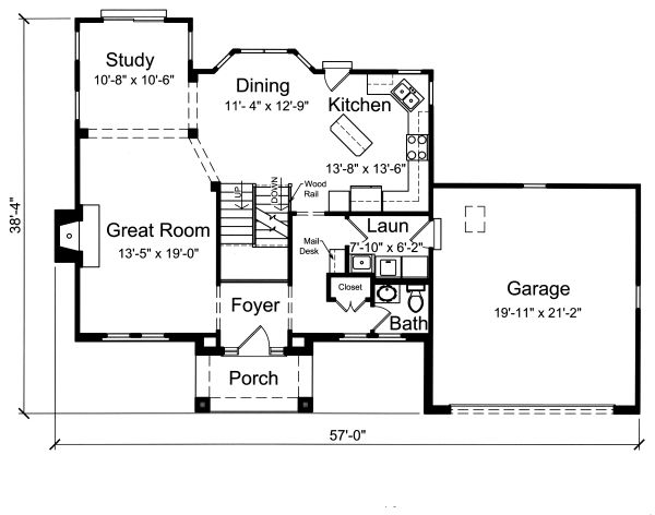 Home Plan - Traditional Floor Plan - Main Floor Plan #46-871