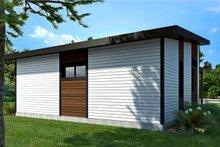 Contemporary Exterior - Rear Elevation Plan #23-2605