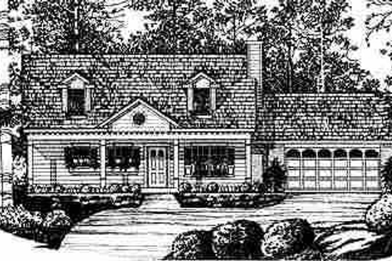 Traditional Exterior - Front Elevation Plan #40-202 - Houseplans.com
