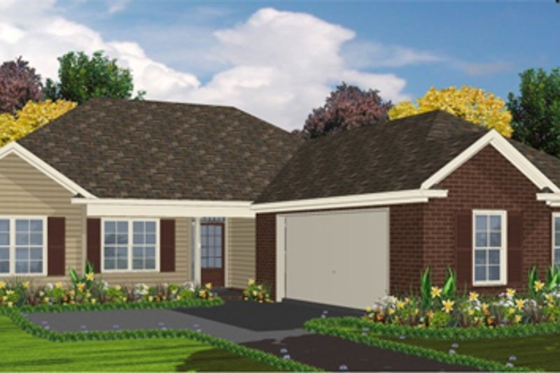 Traditional Style House Plan - 4 Beds 2 Baths 1636 Sq/Ft Plan #63-263 Exterior - Front Elevation