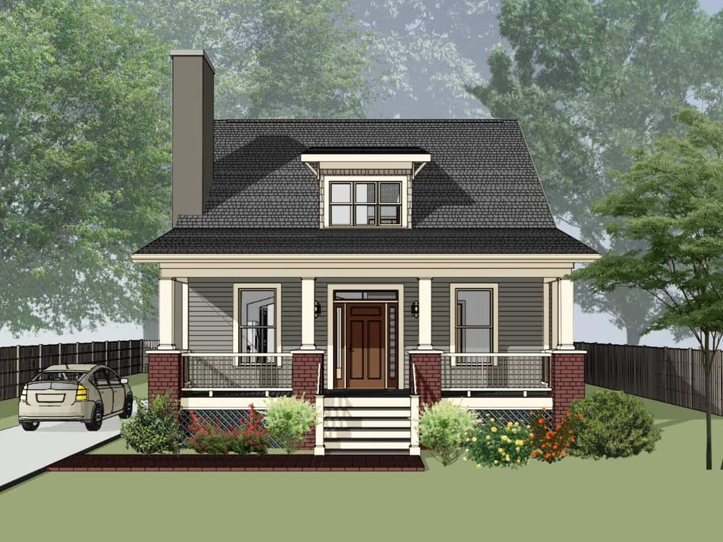 Bungalow Style House Plan 4 Beds 2 Baths 1495 Sq Ft Plan 79 204 Eplans Com