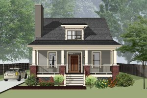 Architectural House Design - Bungalow Exterior - Front Elevation Plan #79-204
