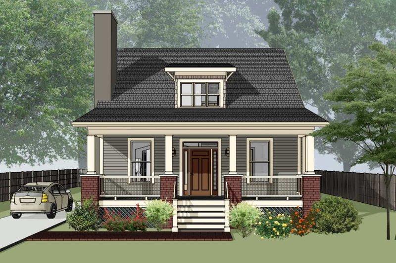 Dream House Plan - Bungalow Exterior - Front Elevation Plan #79-204