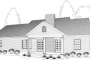 Country Style House Plan - 3 Beds 2 Baths 1644 Sq/Ft Plan #406-122 Exterior - Rear Elevation