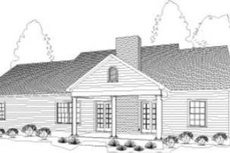 Country Exterior - Rear Elevation Plan #406-122 - Houseplans.com