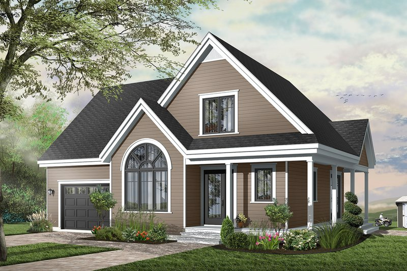 Home Plan - Country Exterior - Front Elevation Plan #23-626
