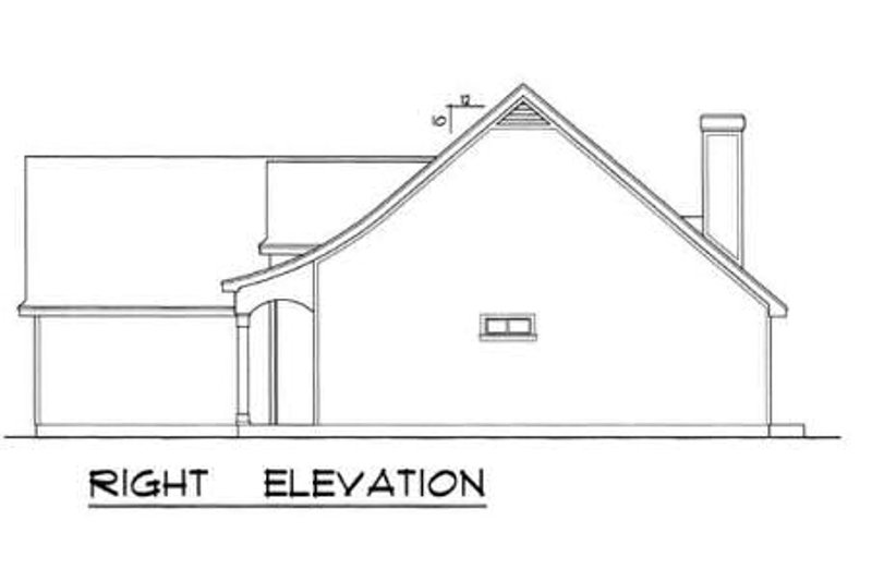 Traditional Exterior - Other Elevation Plan #40-116 - Houseplans.com