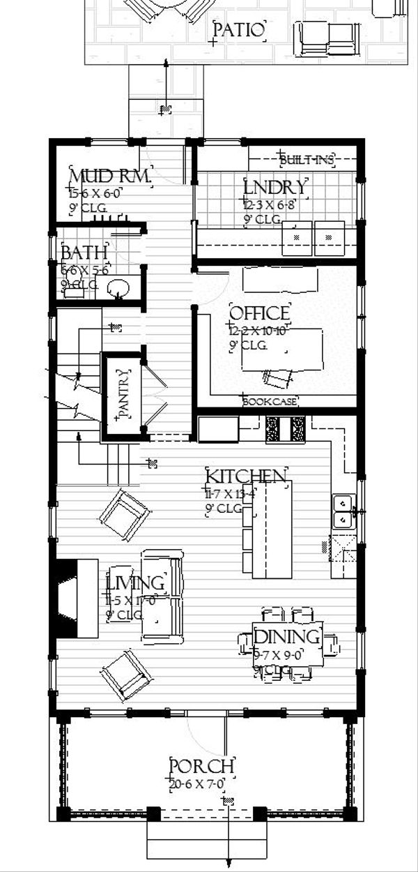 Farmhouse Floor Plan - Main Floor Plan #901-136