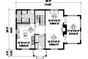 Colonial Style House Plan - 3 Beds 3 Baths 2711 Sq/Ft Plan #25-4679 Floor Plan - Main Floor Plan
