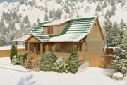 Cabin Style House Plan - 3 Beds 2.5 Baths 2418 Sq/Ft Plan #1060-24