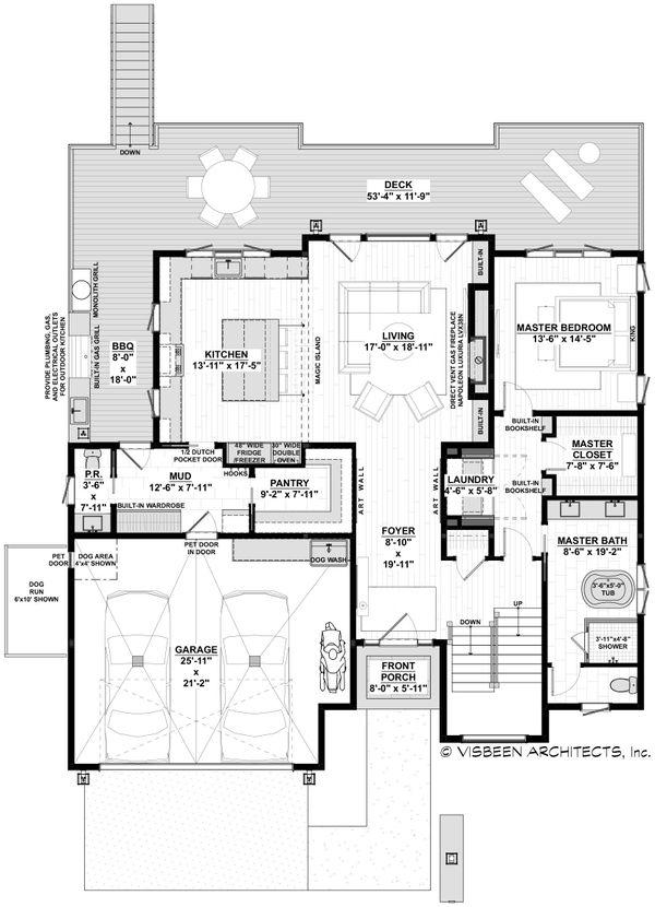 House Plan Design - Contemporary Floor Plan - Main Floor Plan #928-352