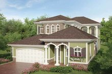 Country Exterior - Front Elevation Plan #938-16