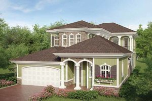 House Design - Country Exterior - Front Elevation Plan #938-16