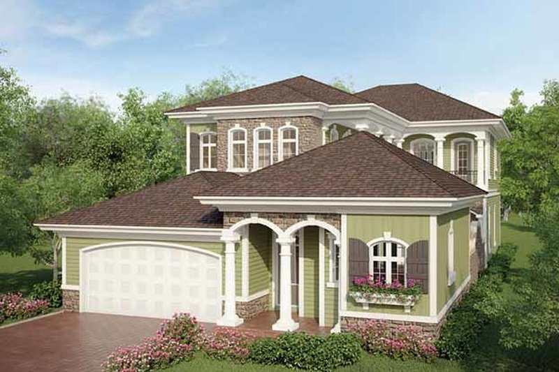 House Plan Design - Country Exterior - Front Elevation Plan #938-16