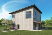 Modern Style House Plan - 3 Beds 2 Baths 2390 Sq/Ft Plan #1068-5 Exterior - Rear Elevation