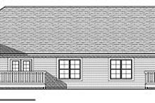 House Design - Traditional Exterior - Rear Elevation Plan #70-894