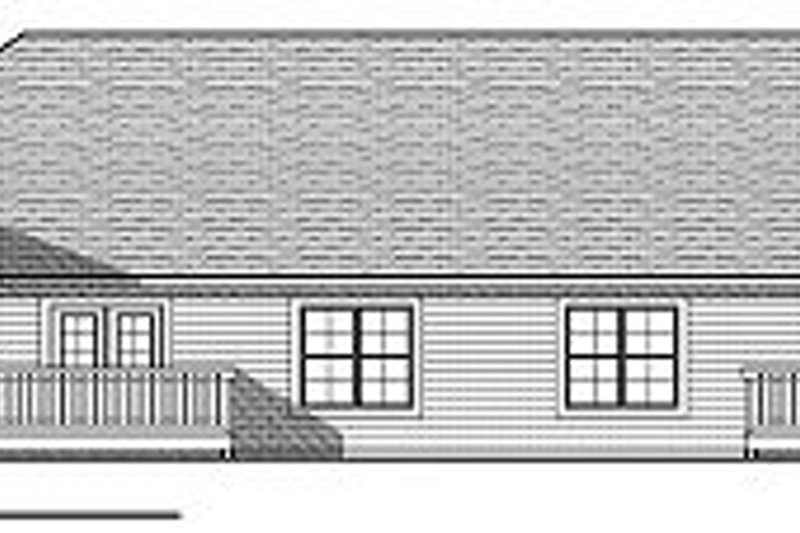 Traditional Exterior - Rear Elevation Plan #70-894 - Houseplans.com