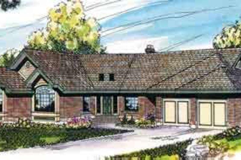 Dream House Plan - Mediterranean Exterior - Front Elevation Plan #124-401