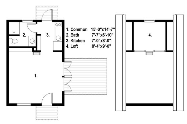 Cabin Floor Plan - Main Floor Plan Plan #497-51