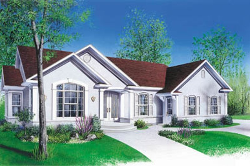 Architectural House Design - Traditional Exterior - Front Elevation Plan #23-133