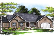 Traditional Style House Plan - 3 Beds 2.5 Baths 1962 Sq/Ft Plan #70-254 Exterior - Front Elevation