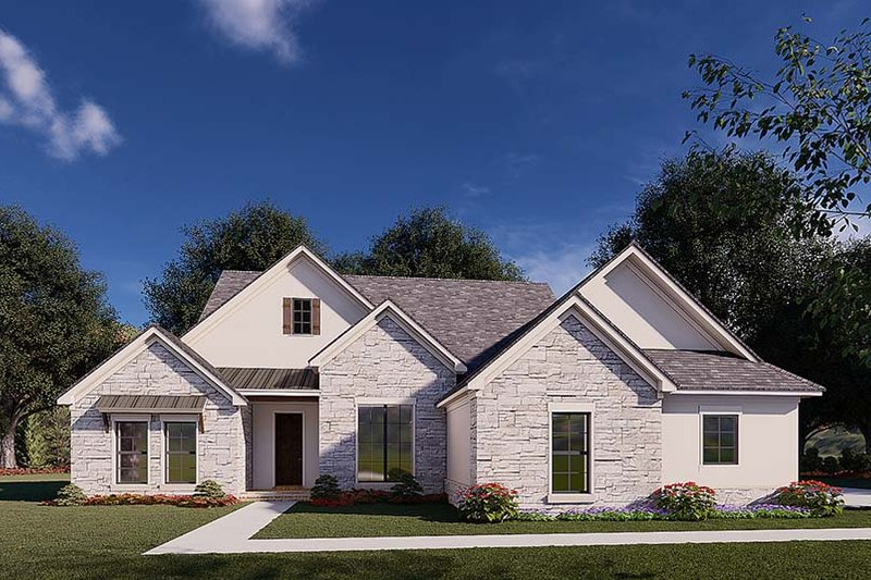 Home Plan Design - Traditional Exterior - Front Elevation Plan #923-176