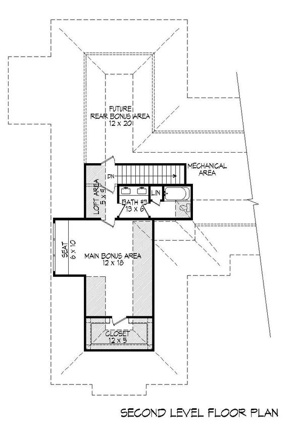 Country Floor Plan - Upper Floor Plan Plan #932-94